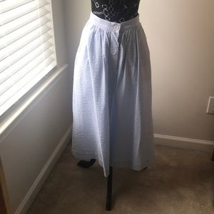 H&M seersucker maxi dress
